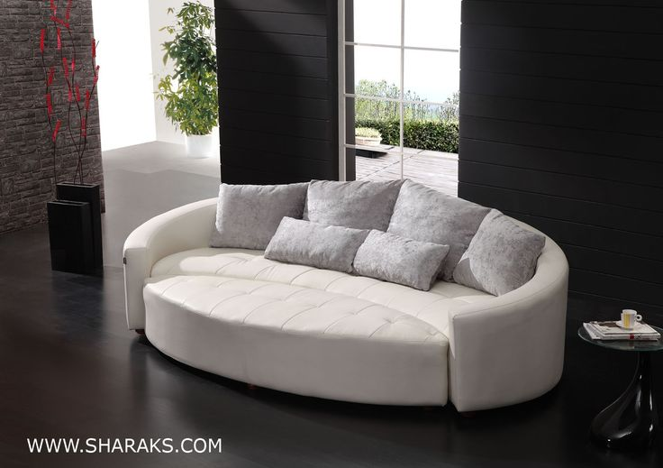curved sofas and loveseats   Cornering the Curved Leather Sofas Market - Sharaks Blog