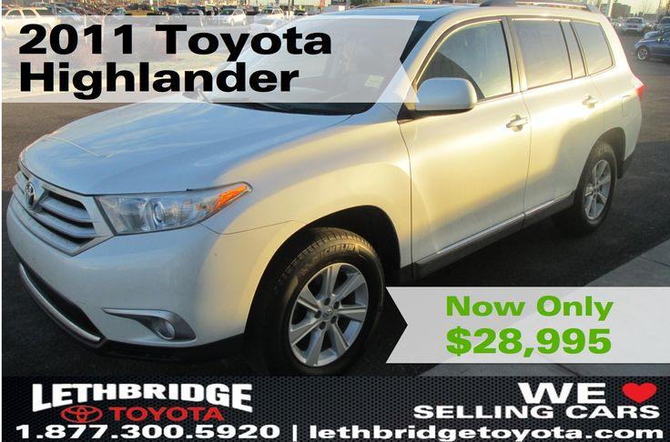 Used 2011 Toyota Highlander   Lethbridge Toyota   Used Car Dealerships Lethbridge