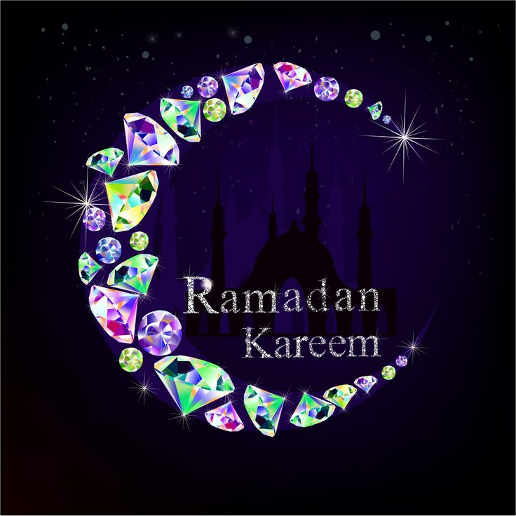 free vector diamond made  Ramadan Kareem Moon