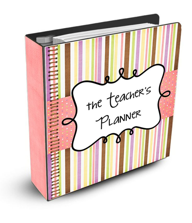 Free Printable Teachers Planner-- I love this for all my home organization.