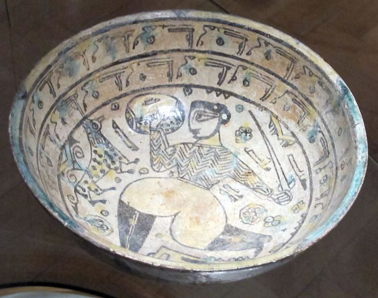 Bowl with warrior with sword, 10th Century, Nishapur, Iran, Museo Nazionale d'Arte Orientale, Rome, Italy