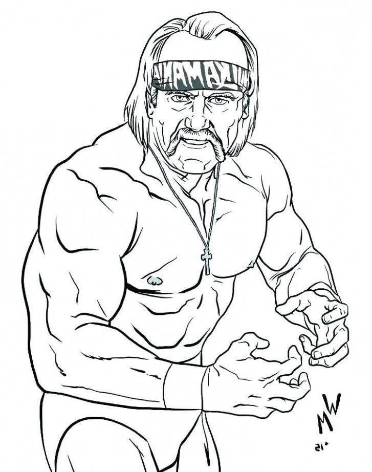 Hulk Hogan Drawing : hogan, drawing, Things, Nobody, About, Hogan, Coloring, Pages, Pages,, Pokemon