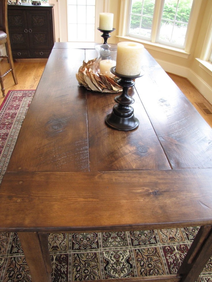 Lipstick And Sawdust Farmhouse Table Stain 3 Parts Provincial To 1 Part Ebony