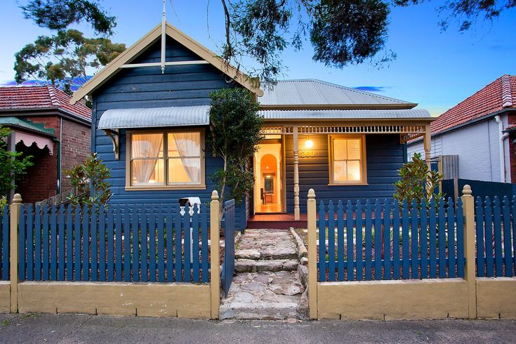 Character home on two titles with sunny garden, dusk photography, 260 Elswick Street Leichhardt, Pilcher Residential