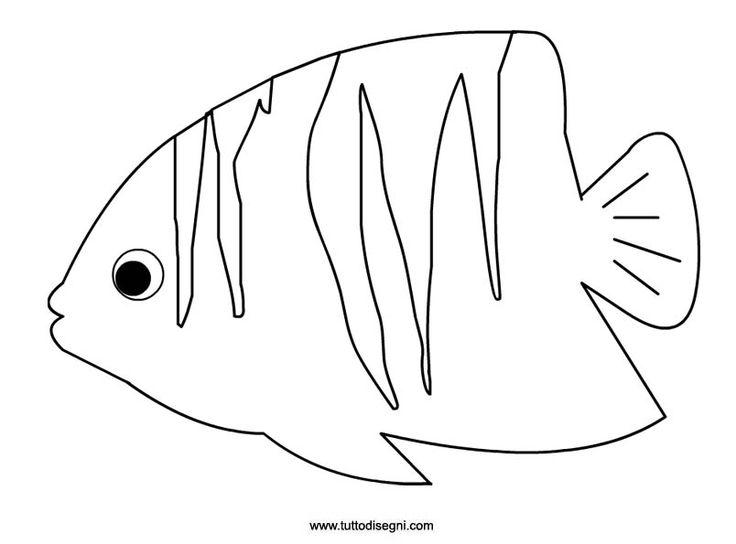 Pesce tropicale da stampare e colorare - TuttoDisegni.com