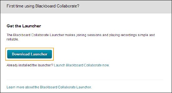 Launch Blackboard Collaborate From Windows - Blackboard Help