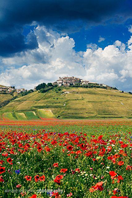 Castelluccio di Norcia, Province of Perugia , Umbria region. Italy