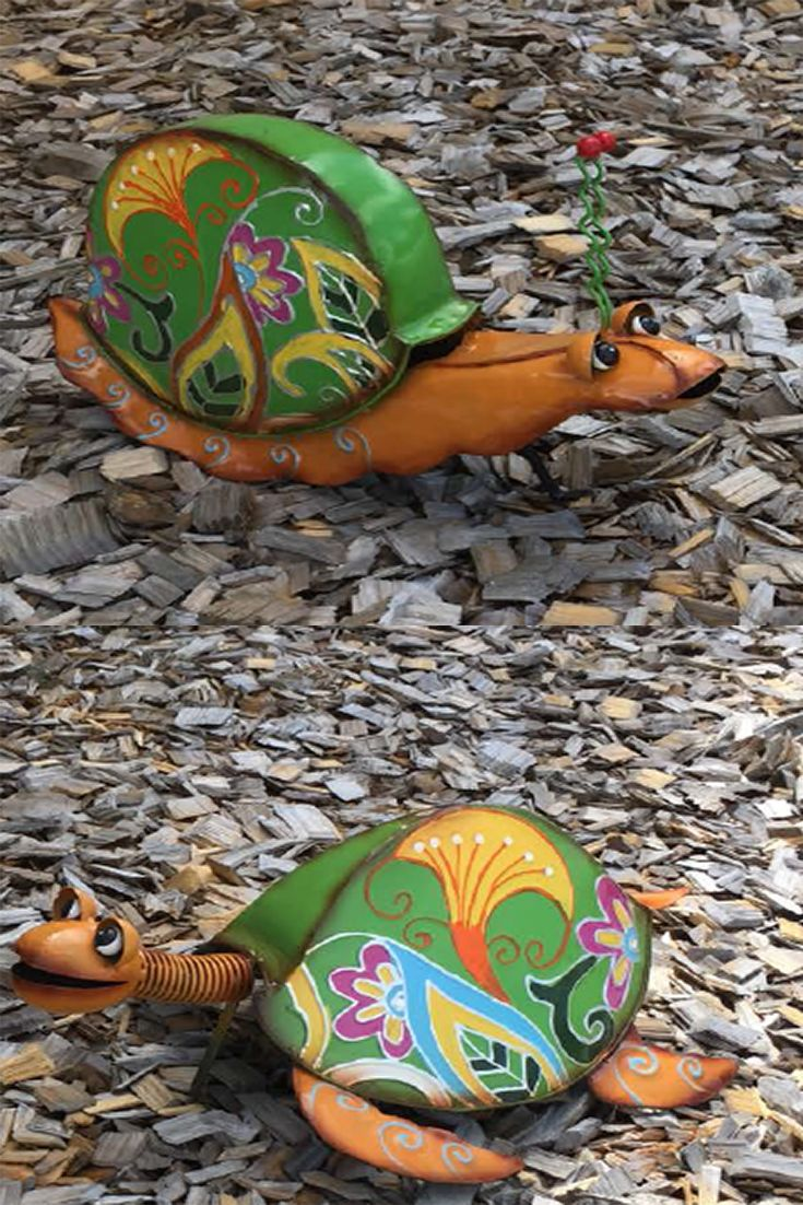 Set your garden with the garden ornaments like  Colourful Snail and Colourful Turtle