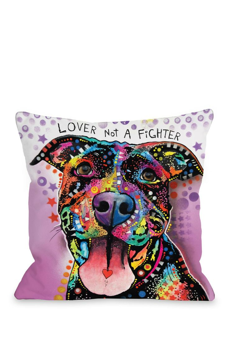 "Pet Pop Art From Dean Russo Ms. Understood with Text 18"" Pillow with Zipper $35.00"