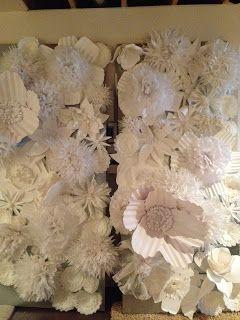 Pancakes & Glue Guns: DIY Paper Flower Wall