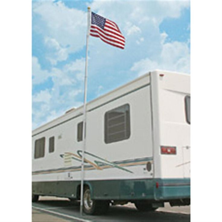 Camco® 20' Telescoping Flagpole with Car Foot