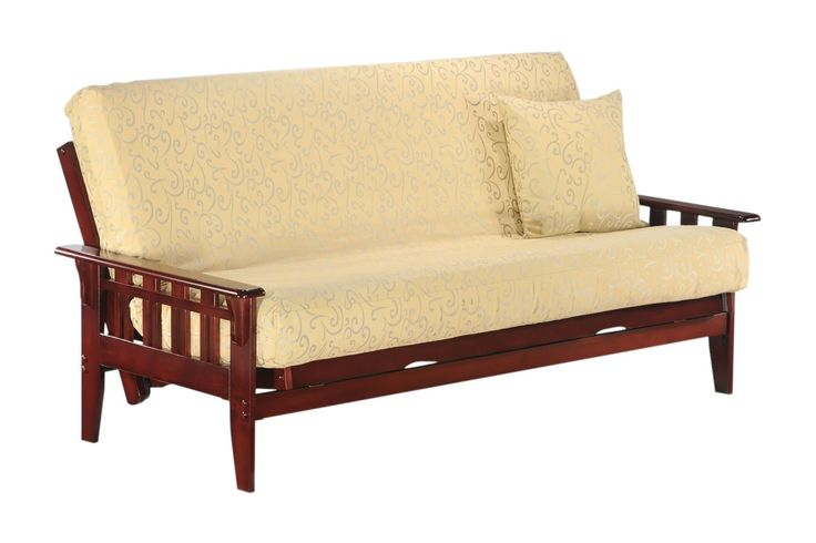 Kingston Queen Futon Frame in rosewood finish