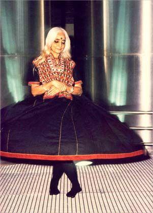 Indian experimental choreographer Chandralekha.
