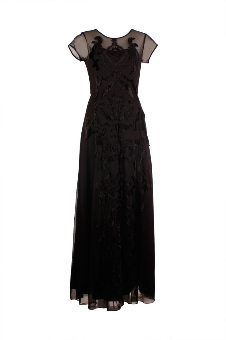 Natasha Gan - Velvet Emb Maxi Dress in Black - Gowns - designer dresses, online fashion, fashion dresses, Australian fashion, online designer clothes, ladies fashion online, evening dresses, cocktail dresses, wedding dress online, bridal dress, Alex Perry, Camilla kaftans, Manning Cartell, Moss and Spy, Bec and Bridge, Willow, Wayne Cooper, Sacha Drake, Rachel Gilbert, Maurie and Eve, Josh Goot, Dion Lee, Alice McCall