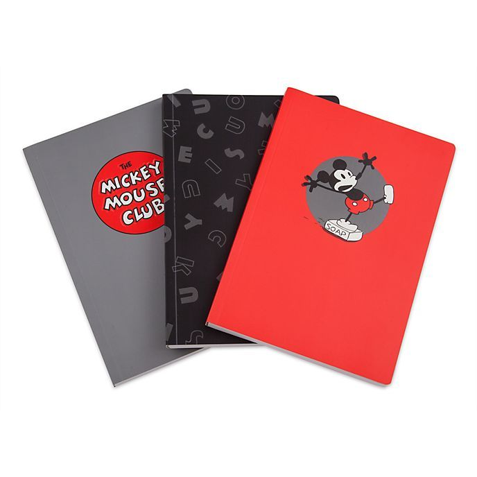 Disney Mickey Mouse Red Notebook with Pen Stationery Set Christmas Gift Primark