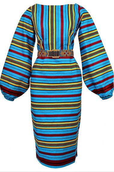 Jasmine Bishop Sleeve Midi Pencil Dress. Ankara | Dutch wax | Kente | Kitenge | Dashiki | African print bomber jacket | African fashion | Ankara bomber jacket | African prints | Nigerian style | Ghanaian fashion | Senegal fashion | Kenya fashion | Nigerian fashion | Ankara bishop dress (affiliate)