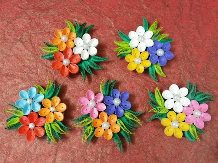 Flower fridge magnets for home decor