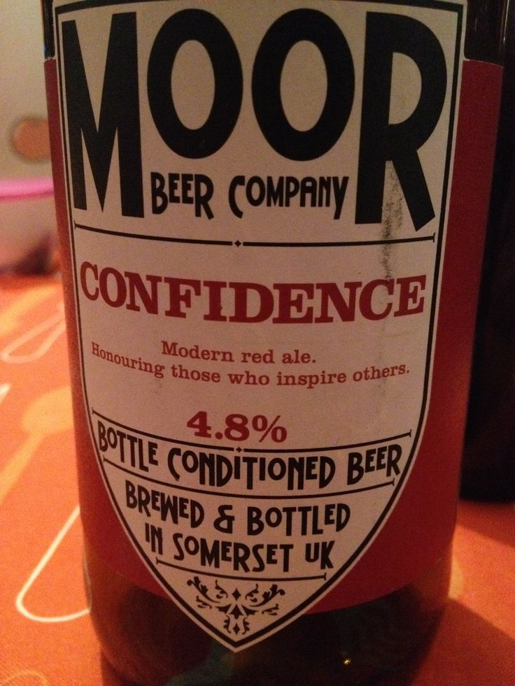 Moor Confidence Brewed by Moor Style: Amber Ale Langport, England