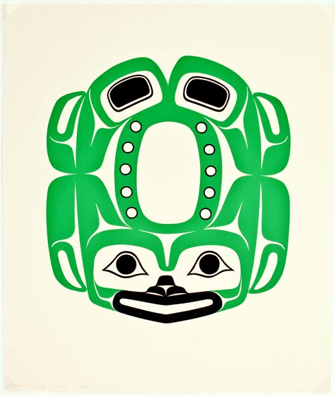 "Frog Print by Preston Singletary, 20""h x 16""w, serigraph print (unframed), 2006"
