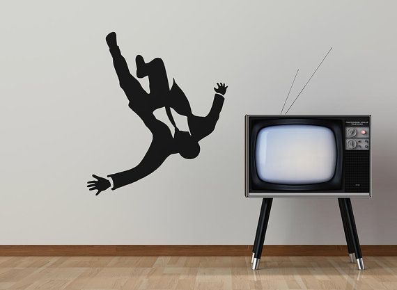 Mad Business Men Falling From The Sky by StreamlineDesign on Etsy, $15.95