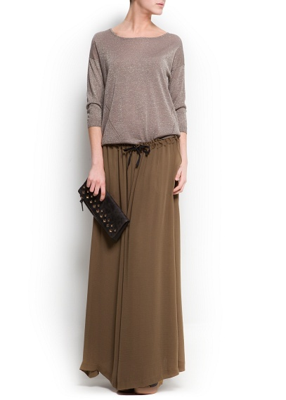 MANGO - Sheer long skirt #Maxi #Skirt #NewCollection #Fashion