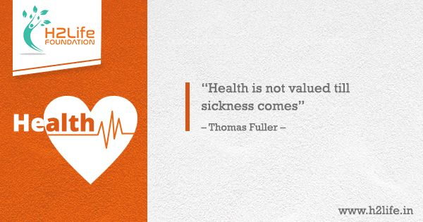 health is not valued till sickness comes