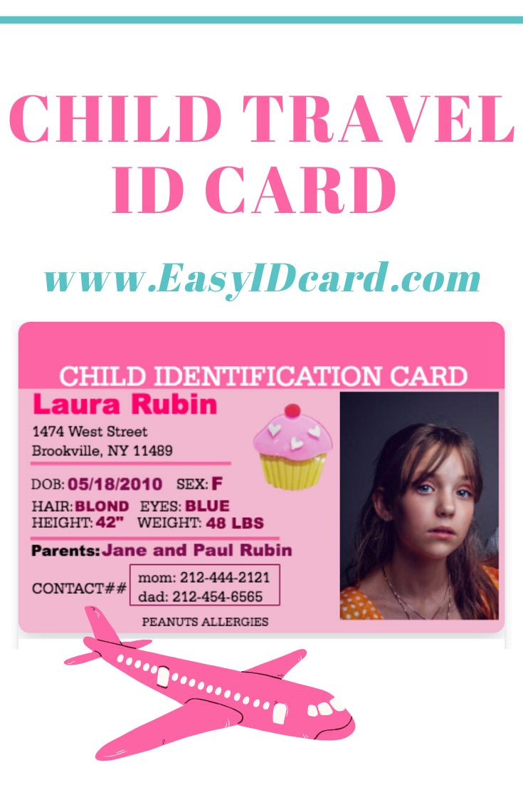 Child Travel Id 12 Easyidcard Com Children Travel With Kids Employee Id Card