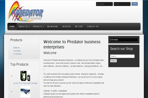 Cartridge and toner supplier and online store Www.predatorbus.Co.za