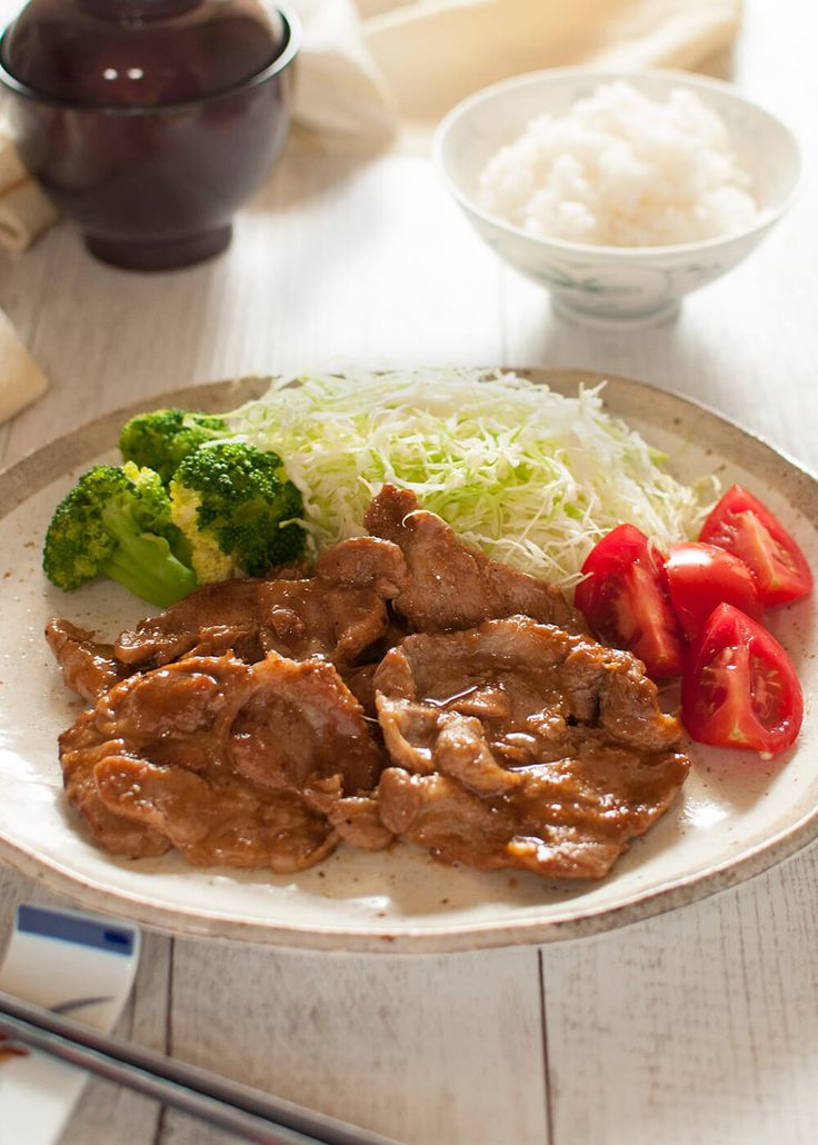 Pork Shogayaki (Ginger Pork) is a thinly sliced sautéed pork with tasty sauce with ginger flavour. It's a very popular lunch menu in Japan.