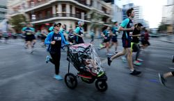 Participants in this year's HBF Run For A Reason in Perth today, Sun'. Buy or browse all images at wespix.com.au.PICTURE: NIC ELLIS   THE WEST AUSTRALIAN. TWA-0045173 © WestPix