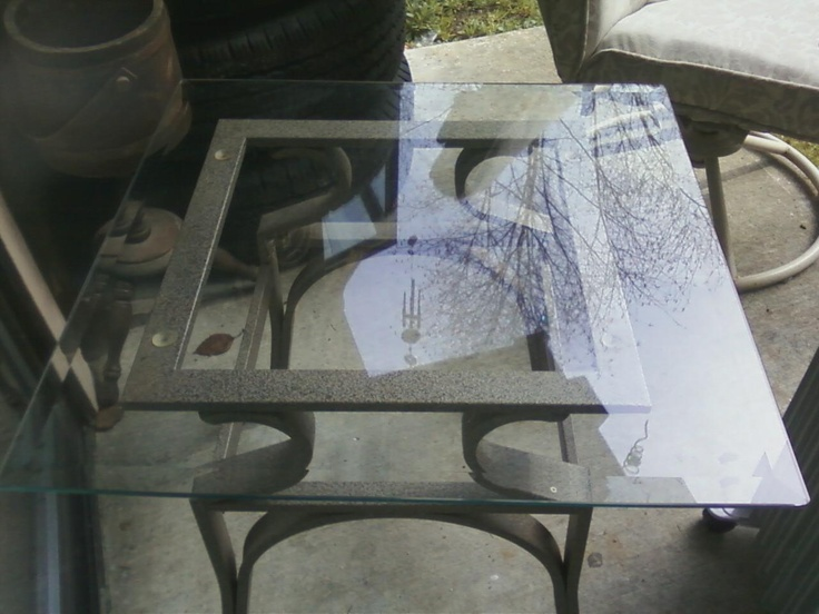 Metal Frame Coffee Table U0026 2 End Tables ~ * ~ In Nattiu0027s Garage Sale  Silverdale, WA For $100.00. The Tables Are Grey And Tan. Glass Tops Are  Beveled, ...