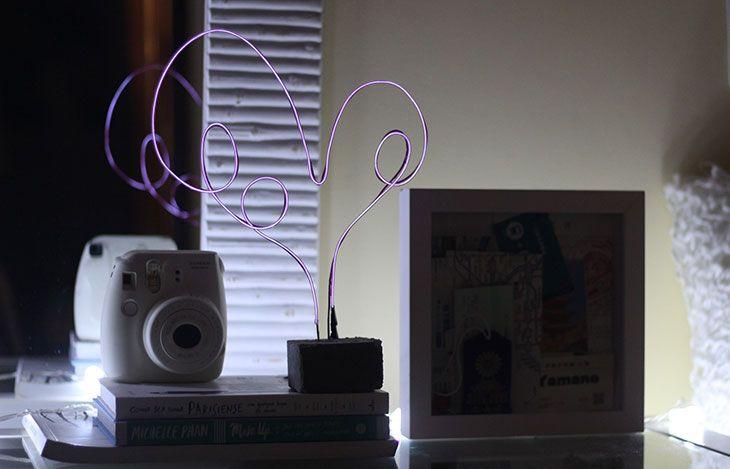 Como fazer: luminária de neon para o Dia dos Namorados