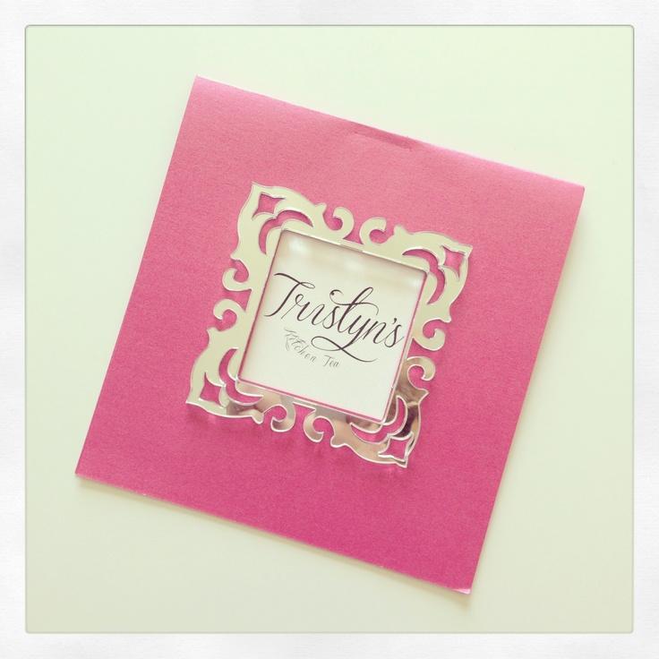 Laser cut bridal shower invitation   Tristyn's Bridal Shower