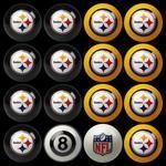 64-1004 Pittsburgh Steelers 8' Pool Table