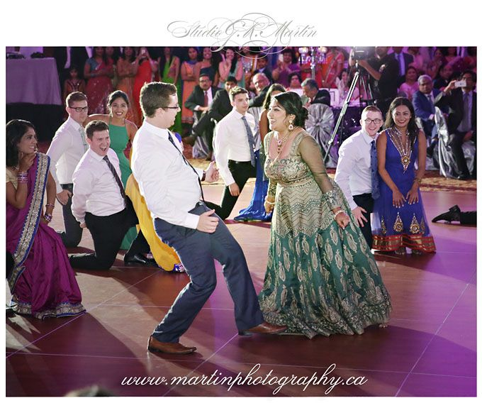 Reception at the Hilton Lac-Leamy - Multicultural Christian and Hindu Wedding - Ottawa Wedding Reception
