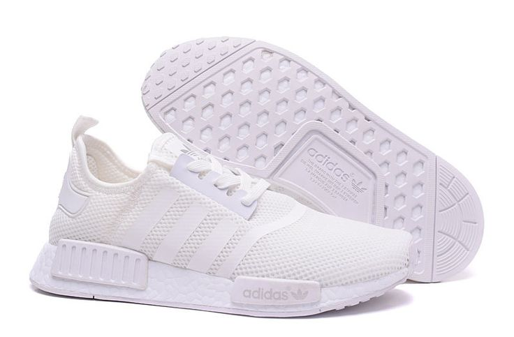 cheap wholesale Adidas Originals NMD Net Cloth Unisex Ultra Boost All White,price $45