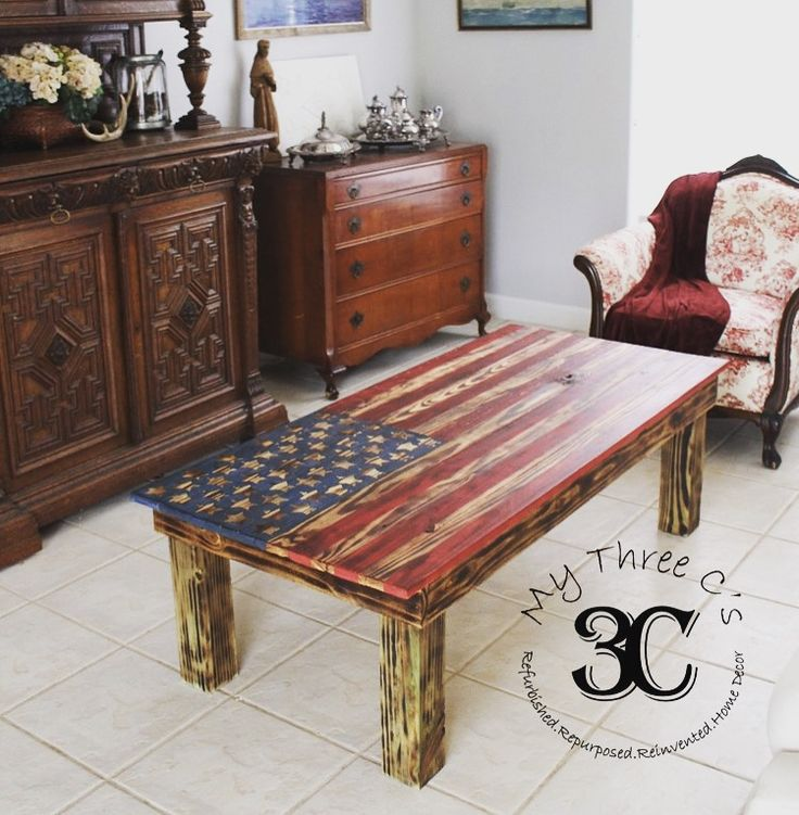 Distressed American Flag Coffee Table: 17 Best Images About My Three C's (Furniture, Crafts