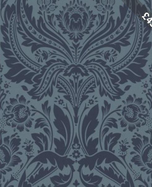 Midnight Blue damask wallpaper