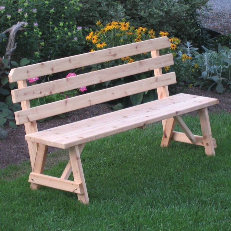 Outdoor A & L Furniture Western Red Cedar Bench with Back