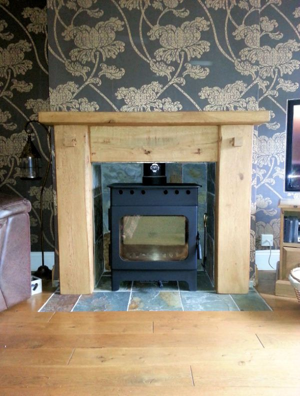 Rustic Oak Fire Surround