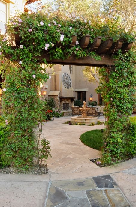 beautful garden space-entry