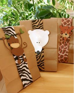 Party Frosting: Safari - favor bags