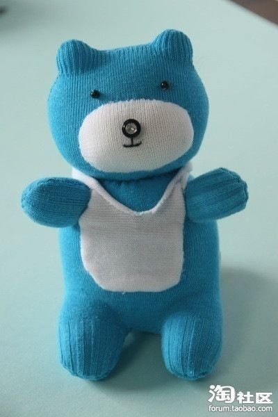 Stuffed animal from a sock Teddy Bears, Crafts Ideas, Crafty, Socks Animal, Socks Bears, Kids, Diy, Stuffed Animal, Socks Teddy