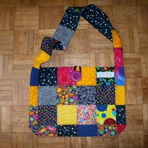 Patchwork Shoulder Bag with a Wide Strap £17.00