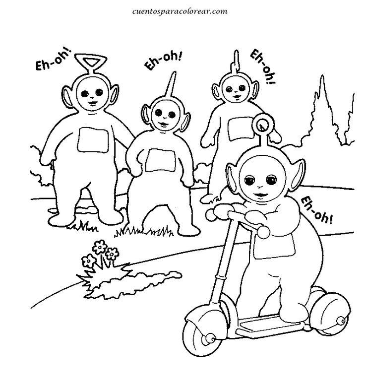 23 best colorear teletubbies images on Pinterest | Colouring in ...