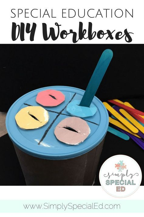 DIY Workboxes - These D-I-Y work boxes are a great way to help your early childhood or special education students work on their basic skills. This particular example focuses on color, but you could also work on shapes, letters, or whatever other skills needs mastered. The basic concept will allow repetition and understanding of the activity, even if the topic being addressed is changed. Click through to see how this could work with your elementary students today.
