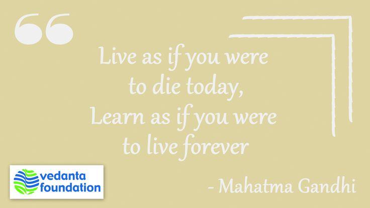 #GandhiJayanti #MahatmaGandhi #QuoteOfTheDay #GandhiQuotes #Learn #Vedanta #India