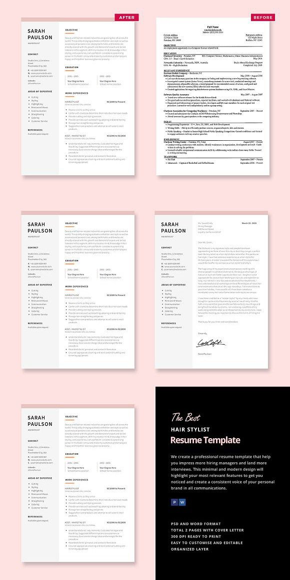 Hair Stylist Resume Template #hairstylistresume #cosmetologyresume