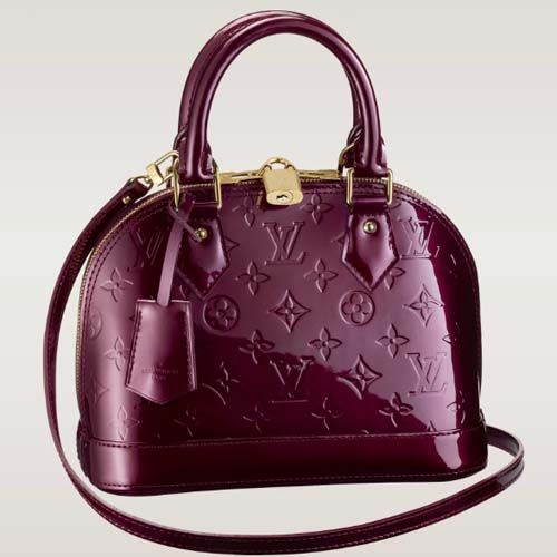 LV Alma BB Monogram Vernis in Amarante, Pomme or that rose color ❤