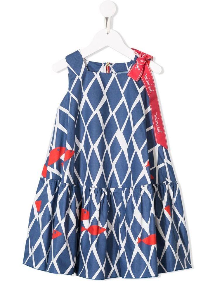 Mi Mi Sol geometric print dress – Blue